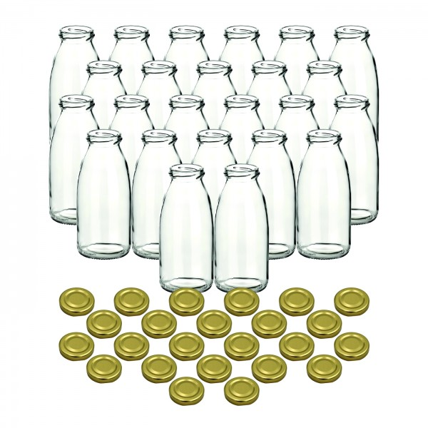 24er Set - 250 ml Saftflasche gold