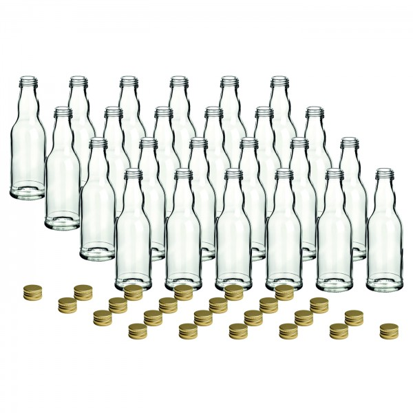 24er Set - 200 ml Kropfhals gold